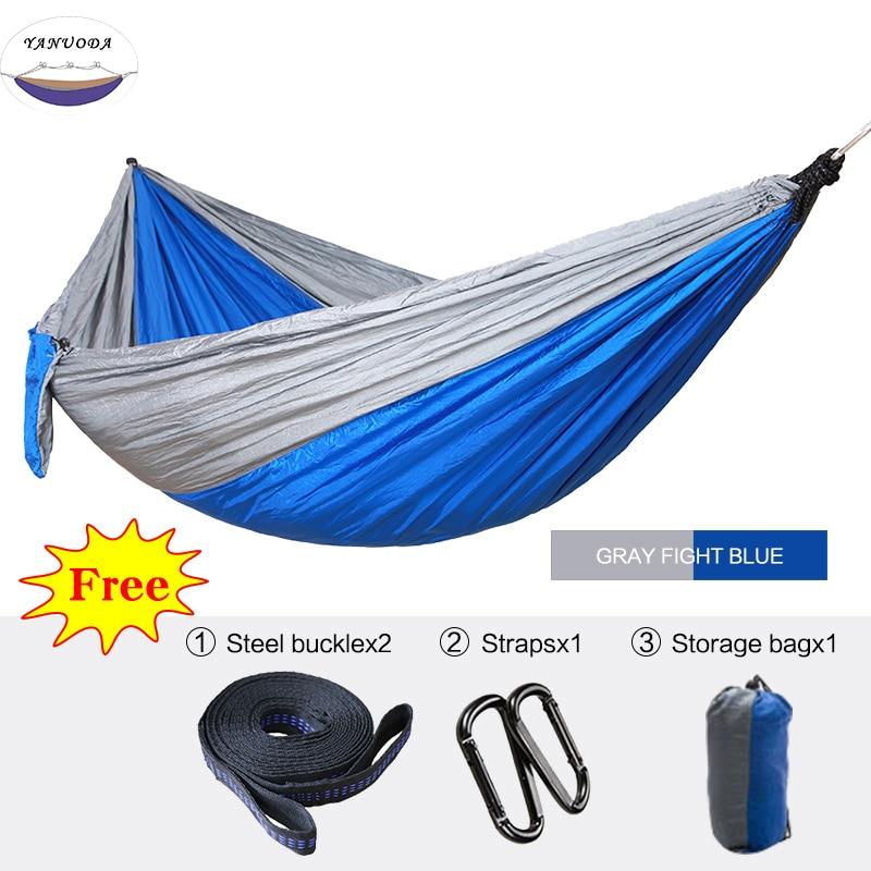 все цены на Hammock Portable Parachute Nylon Fabric Travel Ultralight Camping Single Wide Outdoor Travel Furniture Suspension онлайн