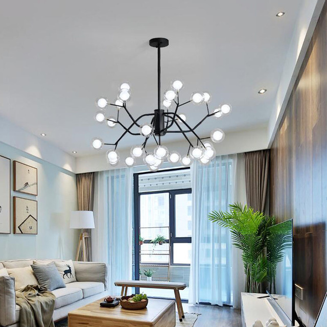 L Nordic style lighting magic bean chandelier living room bedroom restaurant creative personality art lamps
