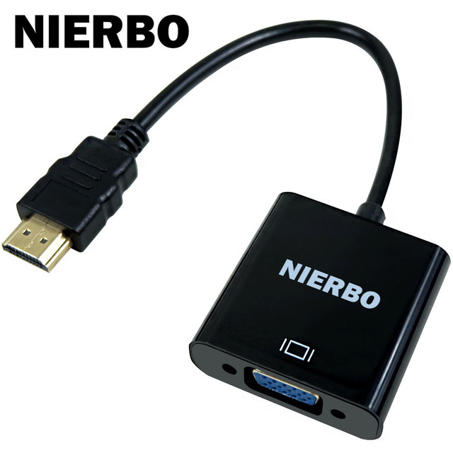 NIERBO HDMI to VGA Male-Female Converter With Audio Converter Adapter switch 1080P for HDTV projector  PC DVD player PS Xbox