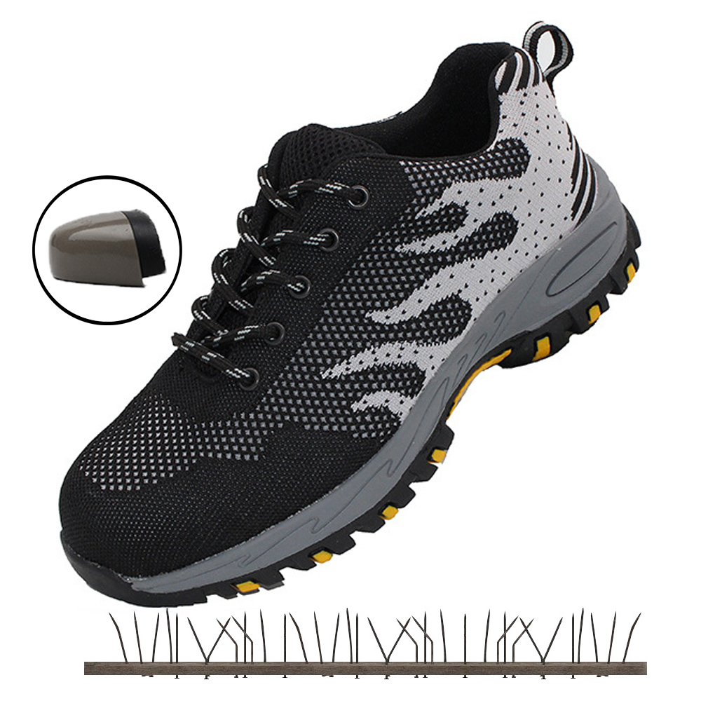 Work & Safety Boots Summer Mens Working Safety Shoes Breathable Footwear Lightweight Indestructible Shoes Steel Toe Shoe For Men Woman Sneakers Back To Search Resultsshoes