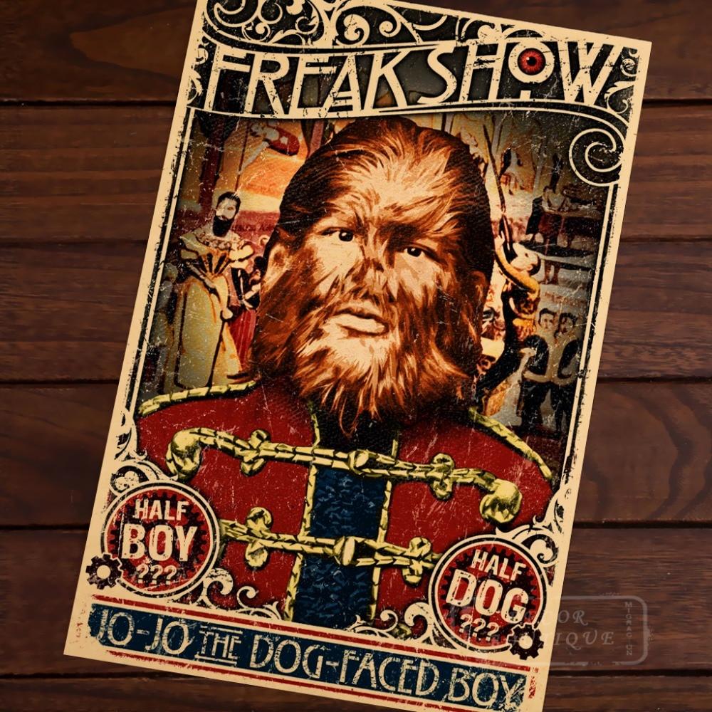 Vintage Circus Freak Show Poster Giant Children A3 A2 Print