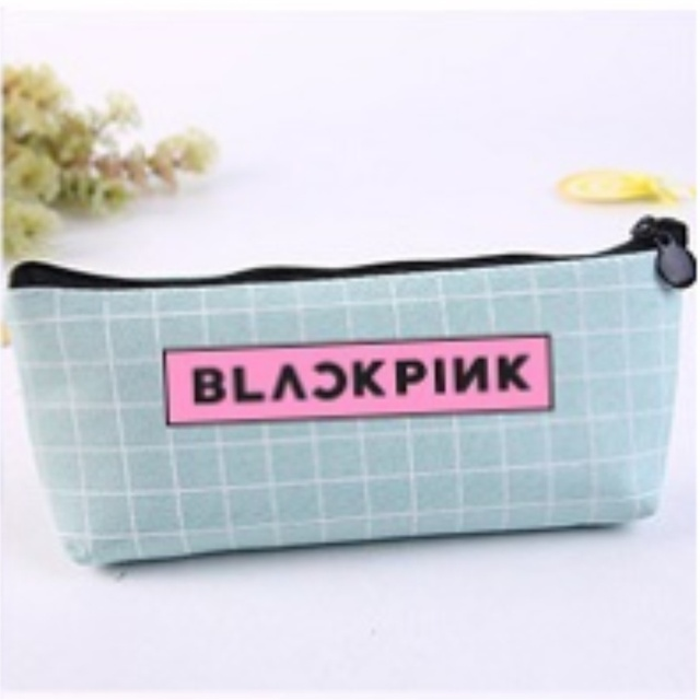 Kpop Blackpink Cosmetic Makeup Bag Lisa Rose Pencil Pen Bag Jennie