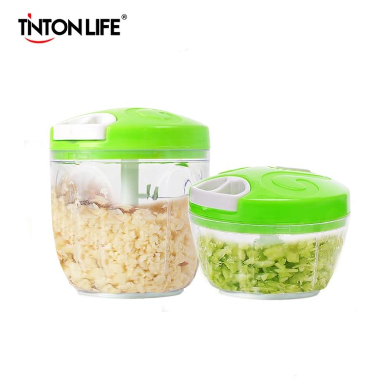 TINTON LIFE Manual Food Processor Chopper Blender Slicer Safe Durable Kitchen Household