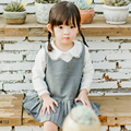2016 Autumn New Arrival Big Girls Clothing Set 2pcs Long Sleeve T-shirt+ Skirt Suits Kids Cotton Clothes Set 2-7 Years Children