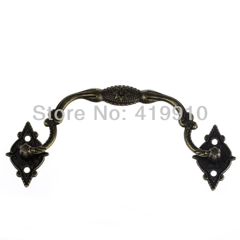 Free-Shipping-10Sets Jewelry Case Box Handle Drawer Antique Bronze Pattern Carved 9.6cm X 3.6cm 3.3cm X 2.1cm,J2016*2