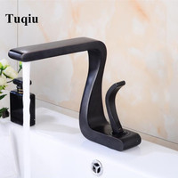 New Bathroom Basin Faucet Nickel Brushed/ORB Finish Solid Brass Faucet Sink Mixer Tap Hot and Cold Basin Lavatory Faucet