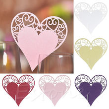 50Pcs Heart Shape Place Card