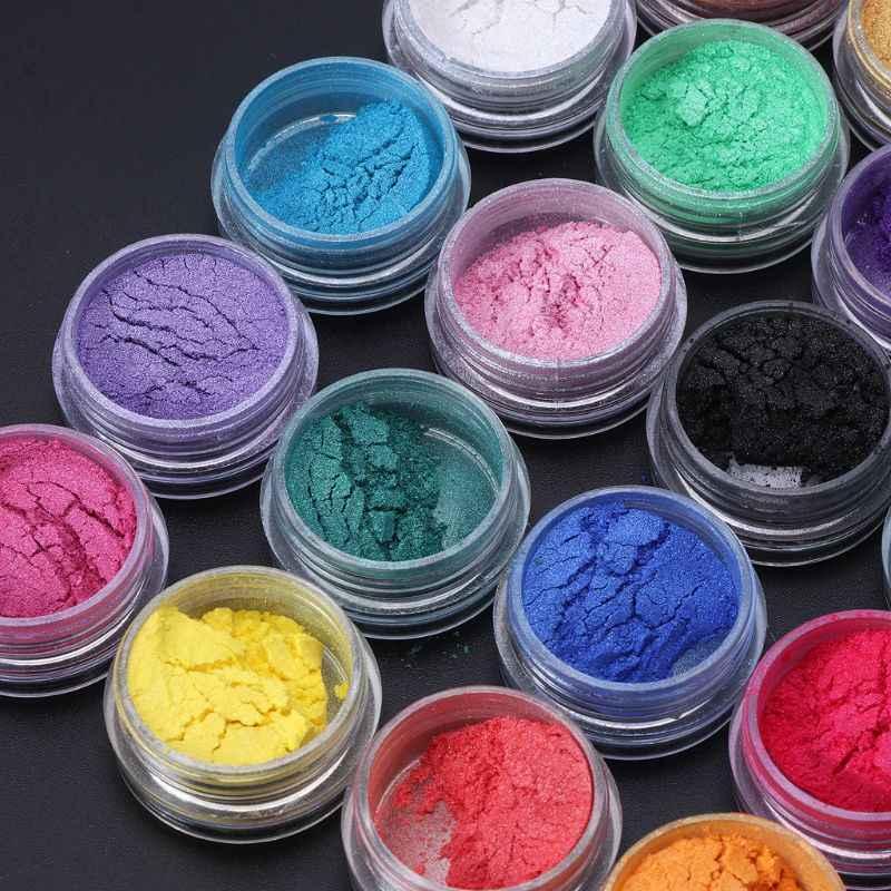 Joyería de resina colorante tinte pigmento de mica de perla polvo superfino resina tinte artesanal