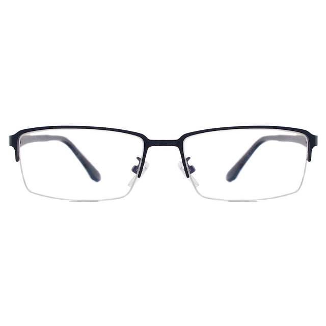 db126069e64e Men Classic Rectangular Eyeglasses Half Rim Metal Prescription Spectacle  Frame For Myopia Reading Optical Lenses-in Eyewear Frames from Apparel  Accessories ...