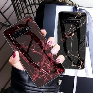 Image 2 - สำหรับ Samsung Galaxy S10 กรณี UYFRATE Ultra Slim Marble กระจกนิรภัย Funda สำหรับ Samsung Galaxy S10 S10 Plus s10e