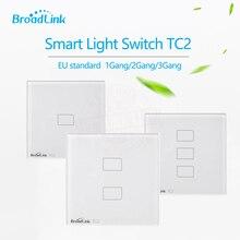 TC2 EU Standard Broadlink 1 2 Przełącznik 3 gang Mobilna Zdalnego Sterowania Światła Lampy Ścienne poprzez Broadlink RM pro, Szkło kryształowe, domotica