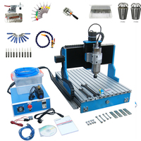 3axis linear guideway metal cnc router 6040 1500W spindle wood engraver drilling cutter machine with cutter collet clamp vise