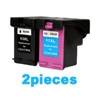 2Pcs For HP 60 Xl Ink Cartridge For HP Deskjet F2480 F2420 F4480 F4580 D2660 F4280