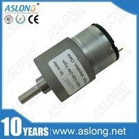 ASLONG 도매 JGB37-520 반전 모터 7-1280 분당회전수 12 볼트 DC 모터 6 볼트 높은 토크 낮은 속도 전자 모터