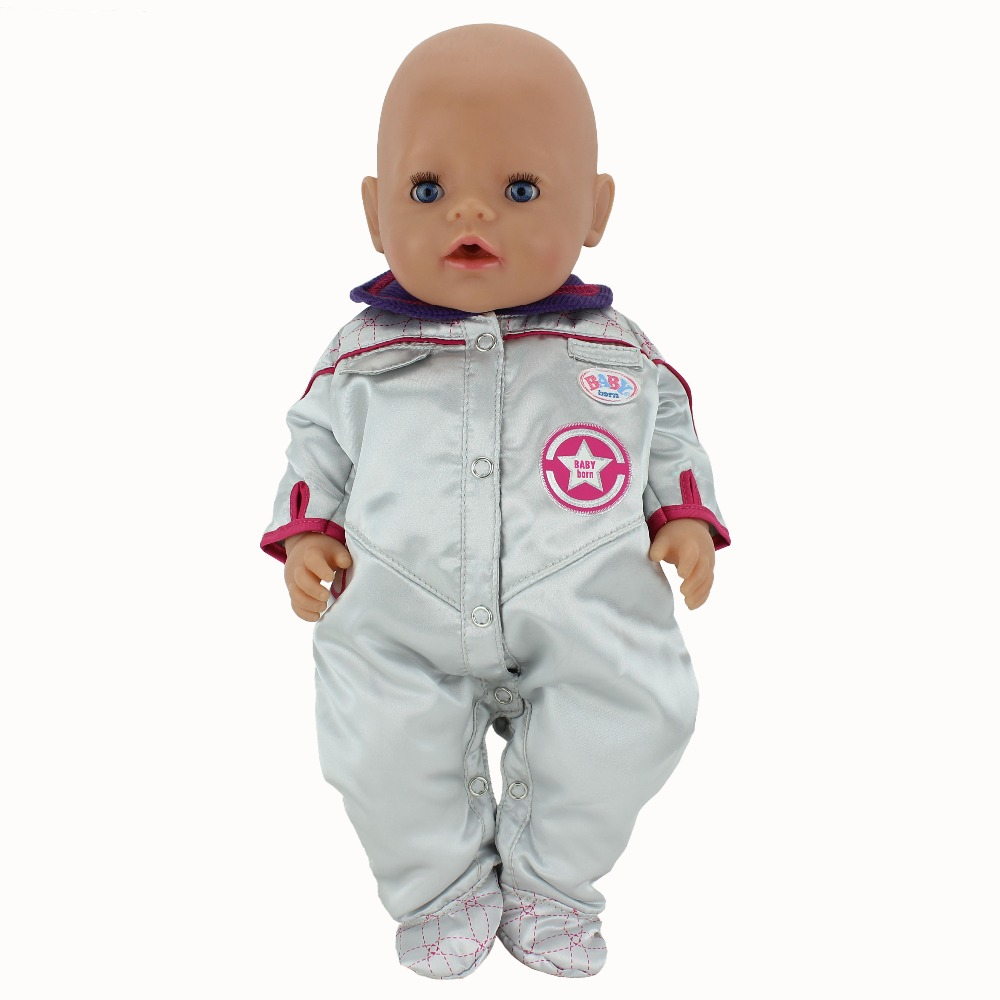 New Style Spacesuits Clothes Wear fit 43cm Baby Born zapf, Children best Birthday Gift(only sell clothes)