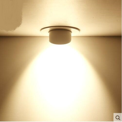 Spotlight led ceiling tube nesting corridor condenser super bright clothing store downlight TA10191 ceramic 3 piece nesting