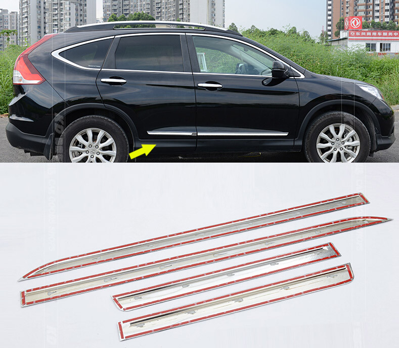 Accessories Fit For Honda Crv Cr V 2012 2013 2014 2015 2016 Chrome Side Door Body Molding Trim