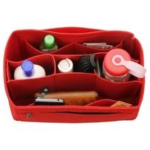 Купить с кэшбэком Customizable Felt Tote Organizer (w/ Detachable Compartments) Neverfull MM GM PM Speedy 30 25 35 40 Purse Insert Diaper Bag