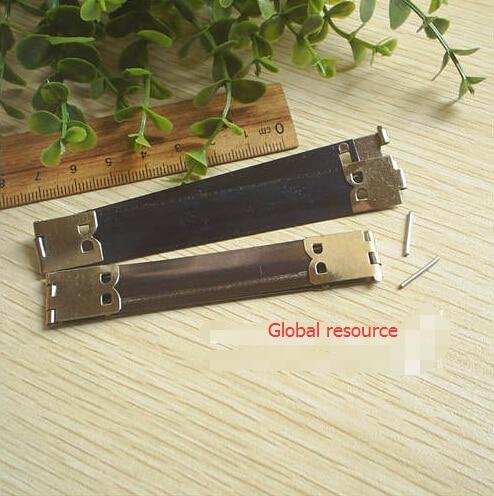 30 pieces/lot 8.5cm Brass Metal Internal Flex Frame for DIY Purse Wallets Purses Spring Flex Purse Frame Silver 3.3inches