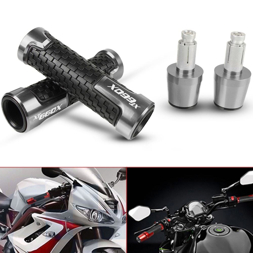 For YAMAHA XT660 x XT660x <font><b>XT</b></font> <font><b>660</b></font> x 2004-2016 Motorcycle Accessories <font><b>Moto</b></font> CNC Handlebar Handle Hand Grip and Bar Ends Silder Plug image