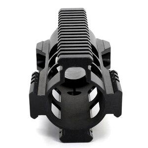 Image 5 - Rail AEG M4 M16 AR15, support de garde mains en forme de verrou m lock avec écrou à canon en acier, 7 10 12 15 pouces, pour la chasse