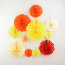 5Pcs Tissue Paper Cut-out Paper flowers fan Baby Showers Wedding  Birthday Party DIY Crafts Hang paper Decoration Supplies decorative wedding party paper crafts 4 12 paper fans diy hanging tissue paper flower for wedding birthday party festival