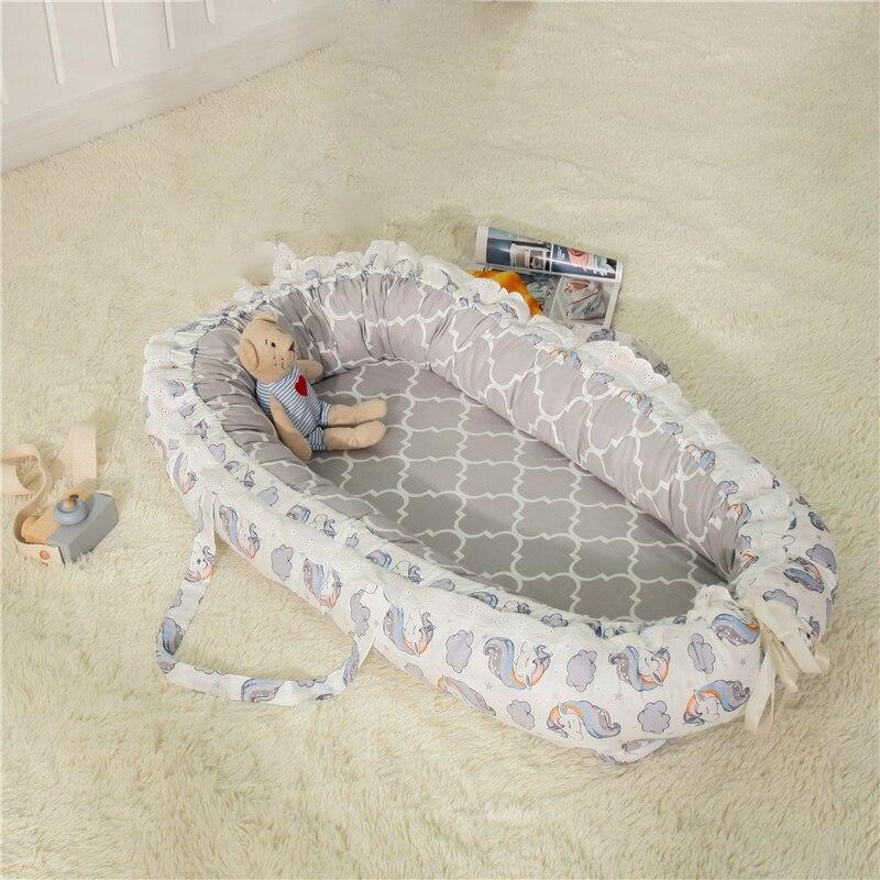 2019 nouveau bébé couffin pour lit de couchage Portable bébé chaise longue pour nouveau-né berceau respirant et sommeil nid