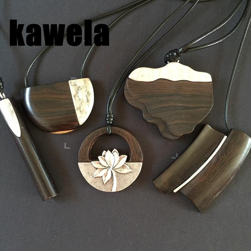 Free Shipping New Fashion Sandalwood Lotus Pendant Adjusted Necklace
