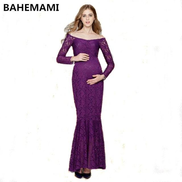 7b2896d8eb0 BAHEMAMI Maternity Dress 2018 Pregnancy Clothes Pregnant Women Lady Elegant  Vestidos Lace Party Formal Evening dresses