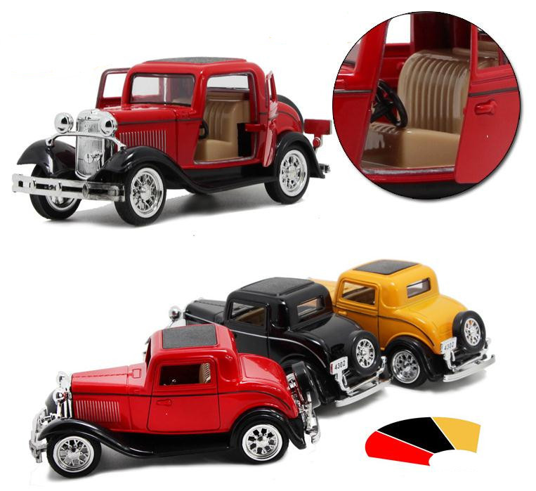 Deals Antique Classic Car 1:36 scale alloy pull back model car ...