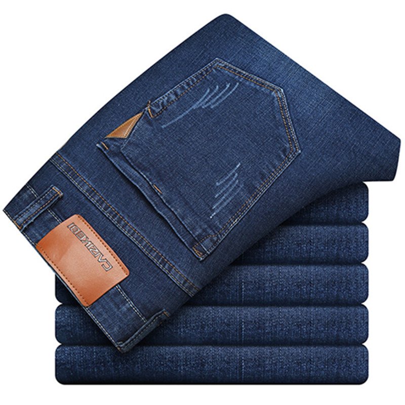 2018 Spring Fashion New Men's Casual Boutique   Jeans   / Men's Stretching Skinny Small Straight   Jeans   Trousers