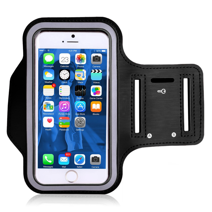 online retailer 1ff33 f95a9 US $1.88 5% OFF|Water Resistant Gym Sports Fitness Holder Cover for iPhone  X 8 7 6 For Galaxy S9 Plus Note 8 Running Armband Hiking Phone Case-in ...