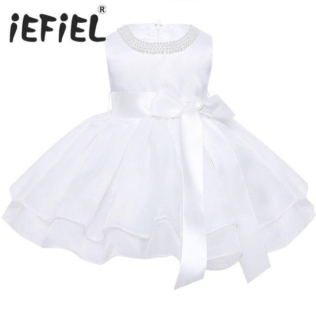 9a5b622d2df8 Flower Baby Girls Wedding Dress for kids 1 year Birthday dresses Baptism  newborn Girls clothing infant tutu dress Child Clothes