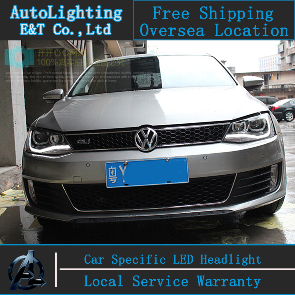 Car Styling Jetta Headlight Embly 2017 Vw Mk6 Led Volks Wagen Drl H7 With Hid Kit 2pcs