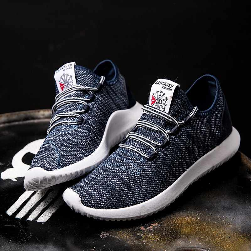 2019 ใหม่ผู้ชายรองเท้าผ้าใบฤดูร้อน Breathable ชายรองเท้าวิ่งรองเท้าตาข่ายลื่นสบายกีฬากลางแจ้งวิ่งรองเท้าผู้ชาย