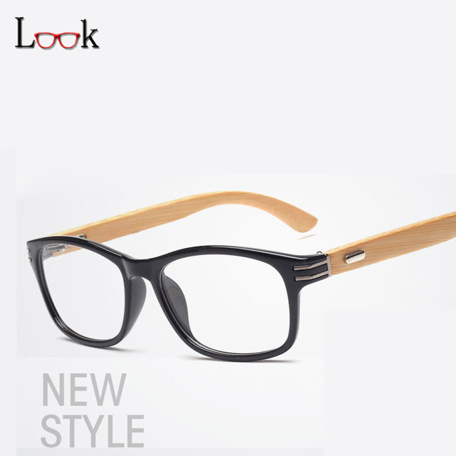 b9b043287a Brand 2018 Glasses Frame Wooden Fashion Retro Bamboo Eyeglasses Frame Men  Women Brand Myopia Prescription Optical Glasses Frame