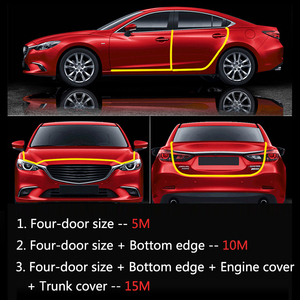 Image 2 - Car Door Edge Scratch Protector Strips Auto Stickers Seal Door Mouldings Universal Interior Accessories Styling Sealing strips