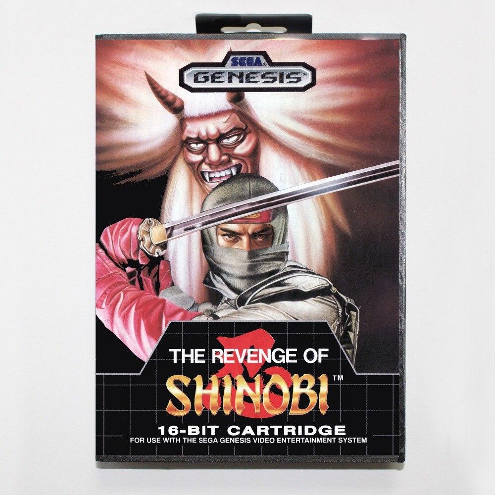 La Venganza De Shinobi 16 bits MD tarjeta con la caja Al Por Menor para el siste