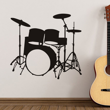 Diy Musical Instruments Drums Wall Sticker Home Decor Living Room Bedroom Vinyl Wall Decals Poster Home Decoration Wallpaper