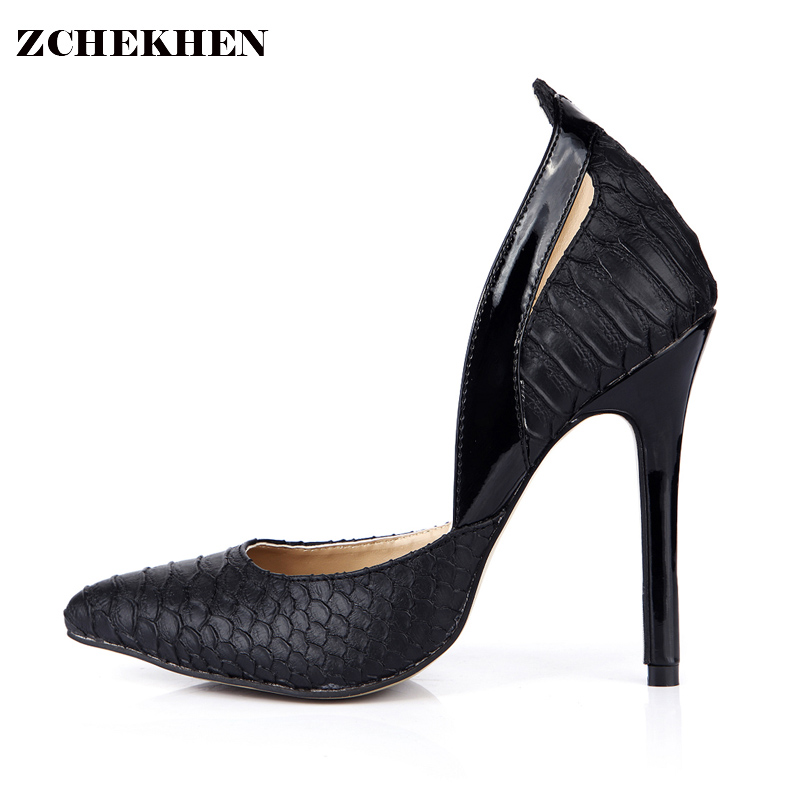 2018 Europe spring thin high heels women Fashion leather Serpentine pattern pumps sex Party High quality Dress shoes 0640-p2 siketu 2017 free shipping spring and autumn women shoes fashion high heels shoes wedding shoes sex was thin pumps g230