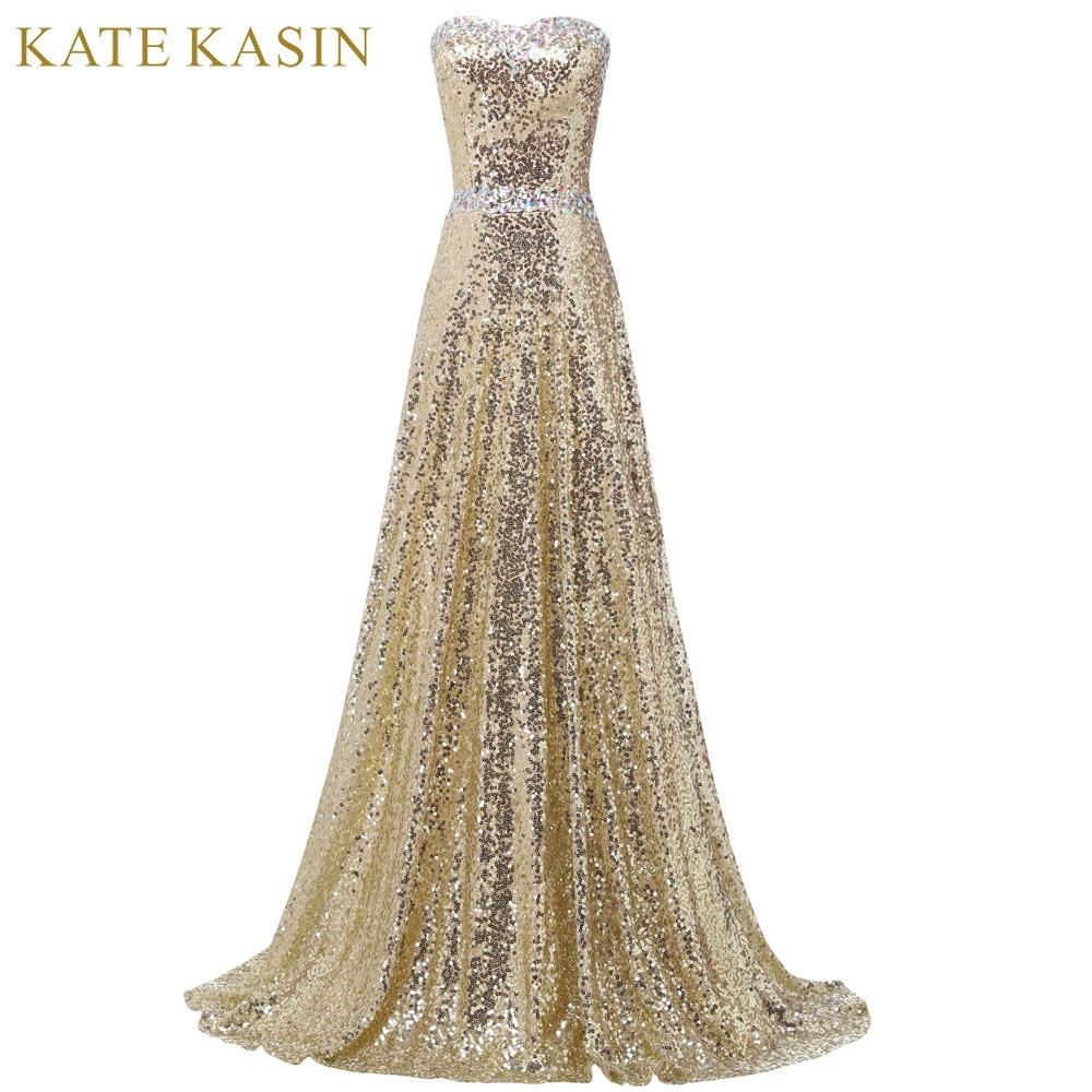 Luxury Design Golden Evening Dresses Long Party Prom Dress