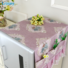 Refrigerator Dust Cover With Storage Bag kitchen organizer home accessories DIY Cloth European Cover towel washing machine cover купить недорого в Москве