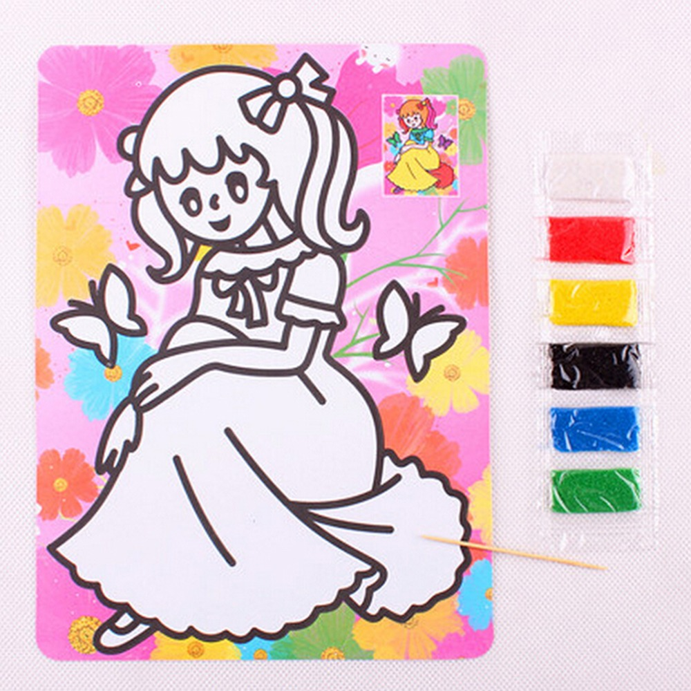 15cm * 20.5cm Creative Drawing Toys DIY Toy Sand Painting Picture Children Educational Kid Scratch Painting Kid Toy