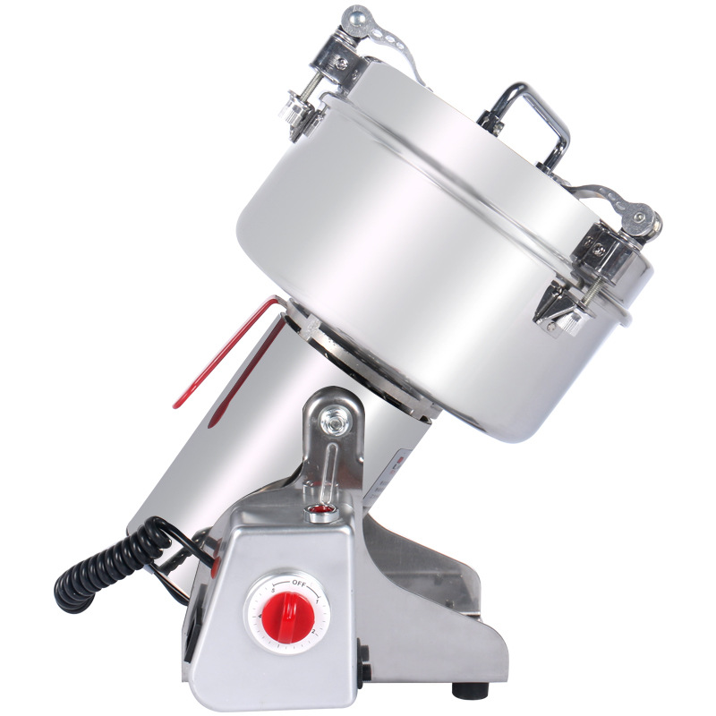 2000g Stainless Steel Chinese Herbal Crusher Electric Grinder Household Swing Type Cereals Grinding Machine Mixer Chopper Device high quality 300g swing type stainless steel electric medicine grinder powder machine ultrafine grinding mill machine
