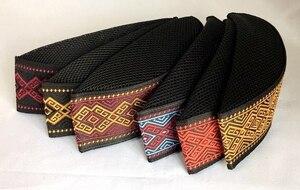 Image 4 - 통관 판매 3 개/가방 가방 블랙 고품질 자수 여름 이슬람 모자 남성 아랍 Turban 이슬람 남자 모자