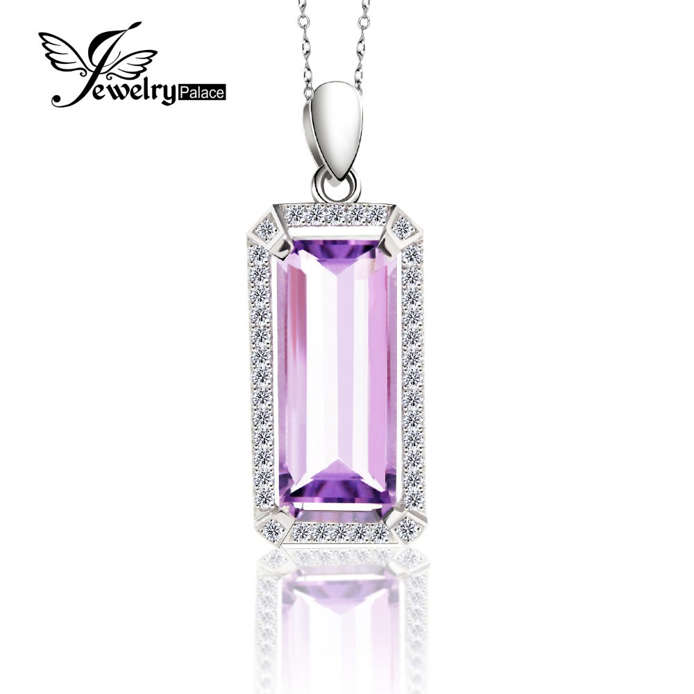 5.2ct Luxury Natural Purple Amethyst Pendant Real Pure 925 Sterling Silver Jewelry Fine Jewelry For Women Without Chain5.2ct Luxury Natural Purple Amethyst Pendant Real Pure 925 Sterling Silver Jewelry Fine Jewelry For Women Without Chain