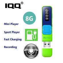 IQQ new mp3 player Mini Portable music player bulit-in 8GB with FM Record Hifi lossless suite for running walking and climbing portable mp3 music player yescool px pg50 8gb professional hifi stereo lossless tf expandable audiophile full format decoding