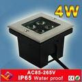 4*1 Вт квадратные светодиодные встраиваемые светильники для сцены  лестницы  садовый свет  напольный водонепроницаемый подземный светильни...