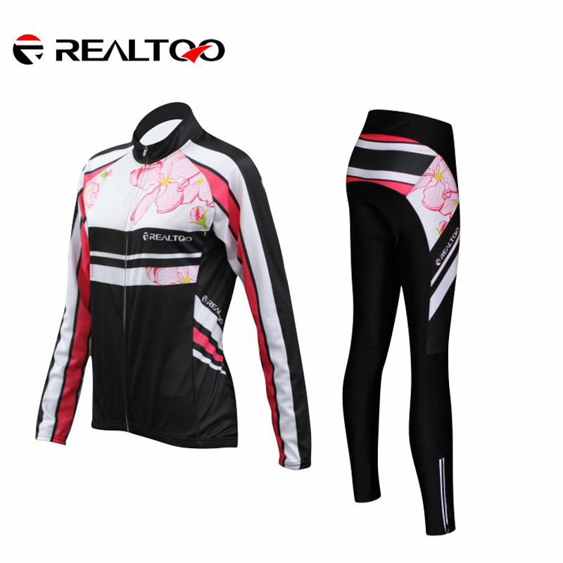 Women Spring/Fall Cycling Jersey Pants Sets Womens Jersey long sleeves Breathable Racing Bicycle Clothing Ciclismo Accessories