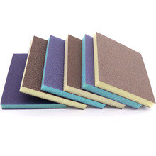 2pcs High Quality Grits 60 80 120 180 240 320 400 600 Double Side Abrasive Tools Polishing Sponge Sandpaper/Sanding Sponge Pad